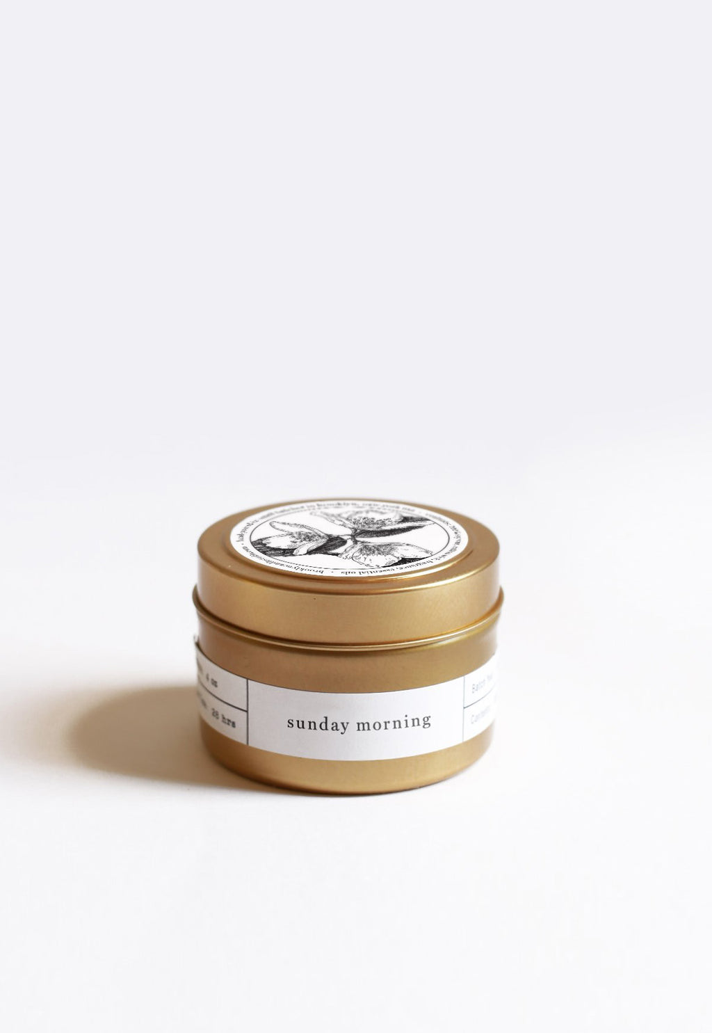 Pre-order | Sunday Morning Gold Travel Candle, candles, Brooklyn Candle Studio, - nois
