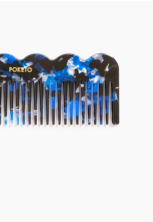 Wave Comb in Blue Multi, beauty, Poketo, - nois
