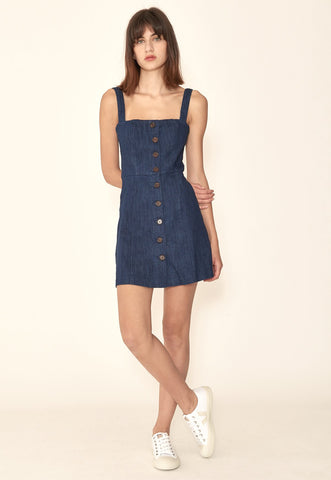Panel Dress in Denim