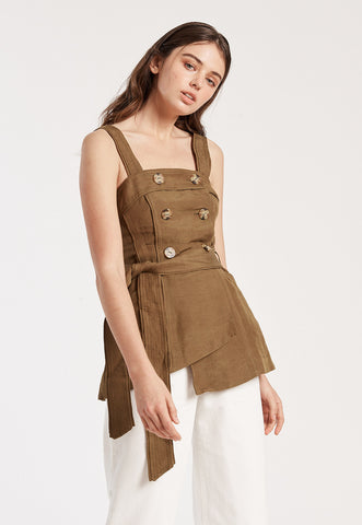 Frida Overalls in Hay
