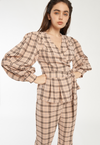 Kas Skirt in Brown Gingham