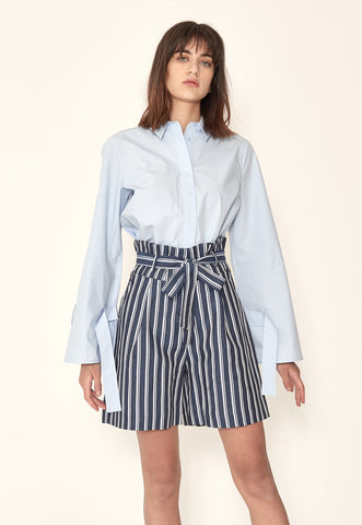 Anna Top in Royal Blue Check Chambray