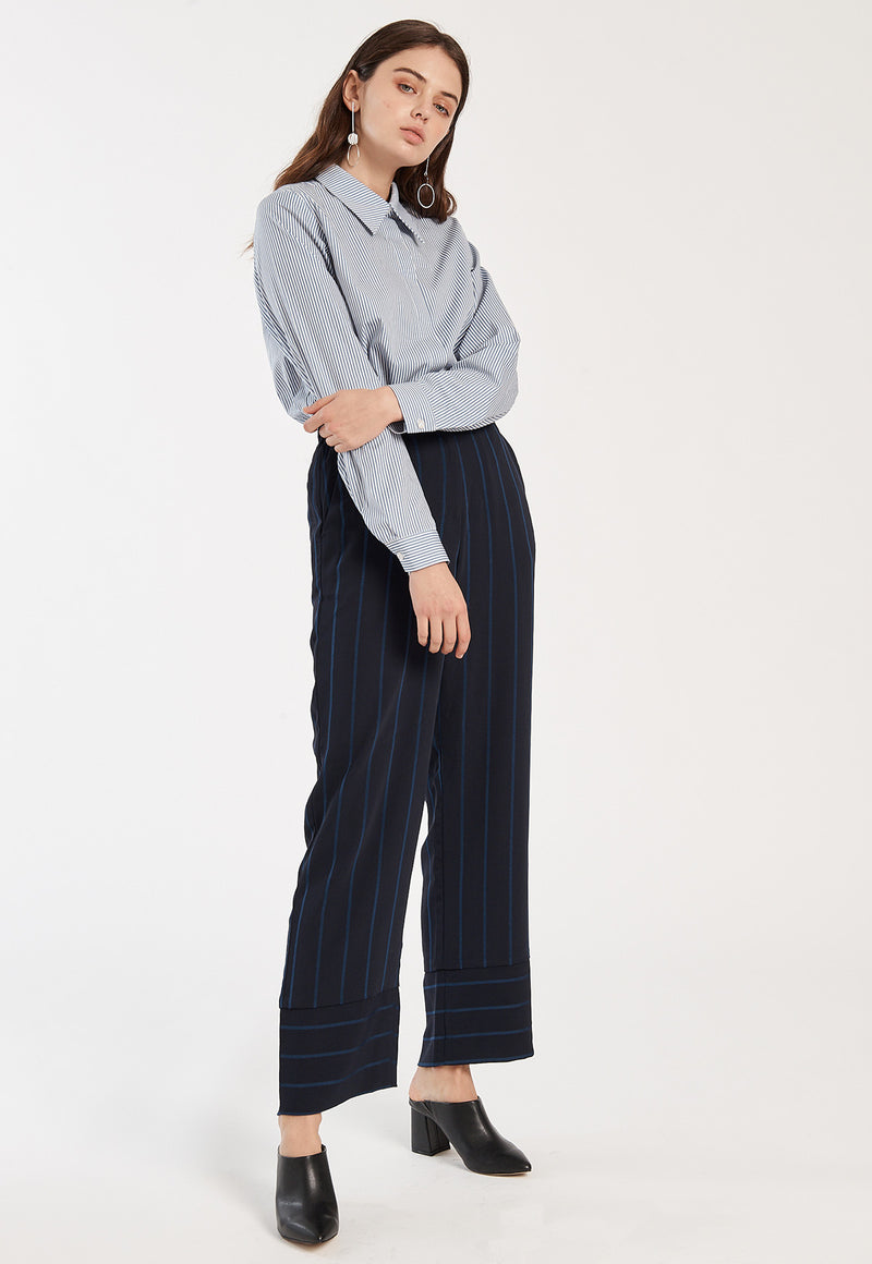 Melina Pants in Dark Sapphire, bottom, Just Female, - nois