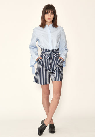Pleat Pencil Skirt