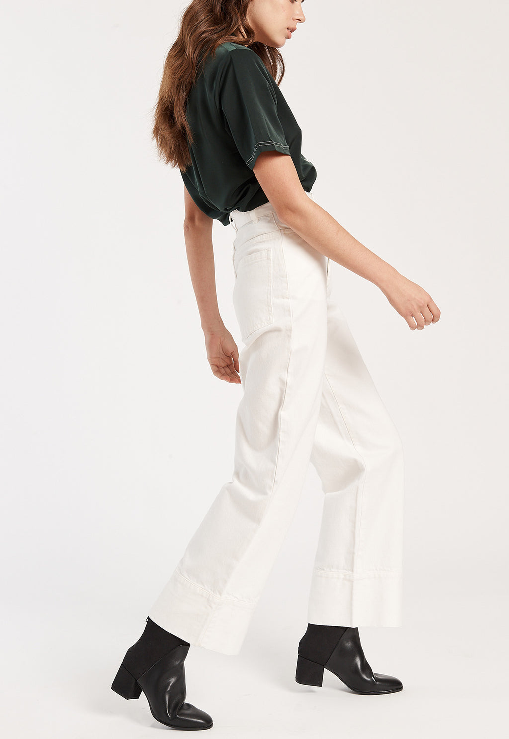 Stage Pants in Ecru Denim, bottom, KOWTOW, - nois