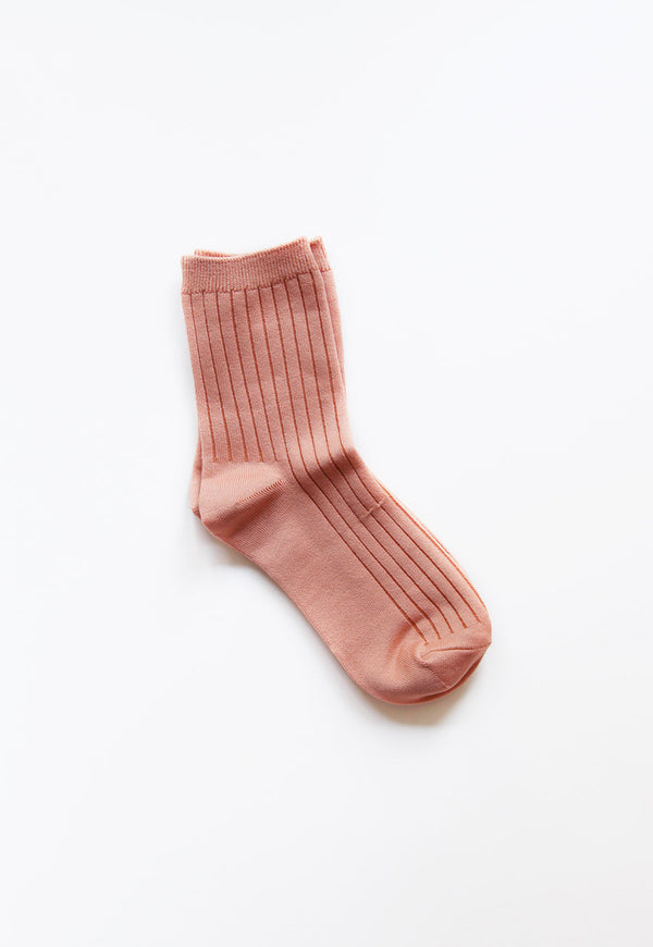 Her Socks in Salmon, socks, Le Bon Shoppe, - nois