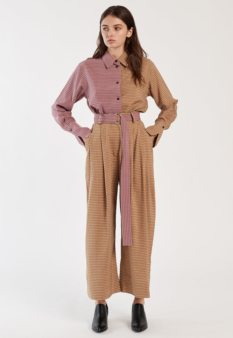 Babette Pant in Mustard Plaid, bottom, Mr. Larkin, - nois