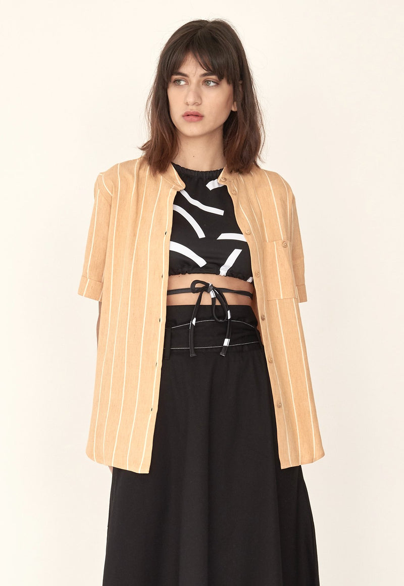 Gibson Shirt in Desert Stripes, top, Sunad, - nois