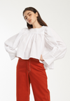 Baby Doll Oversized Cuff Top, top, Toit Volant, - nois