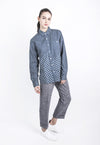 Unisex Spliced Polka Dot Shirt, top, Wisdom Apparel, - nois