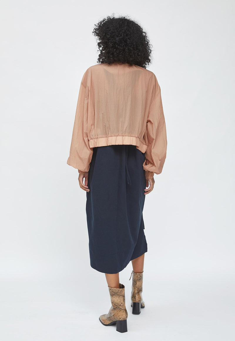 Wide Sleeves Bomber light Taupe