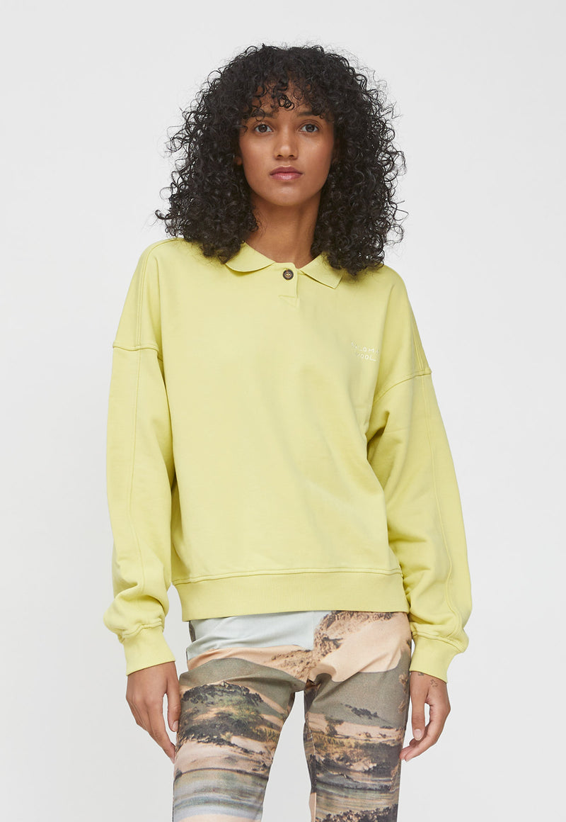 Ami Polo Top Olive Green