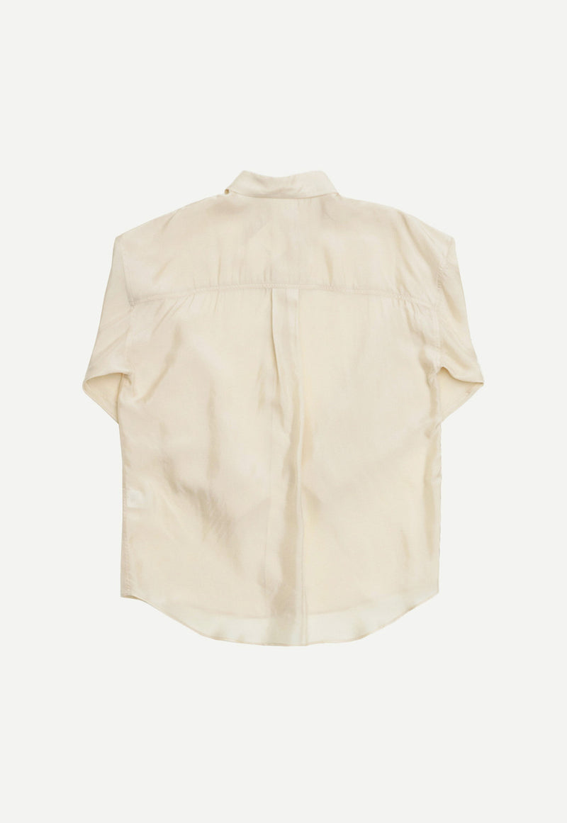 Silky Shirt Cream, top, AMOMENTO, - nois