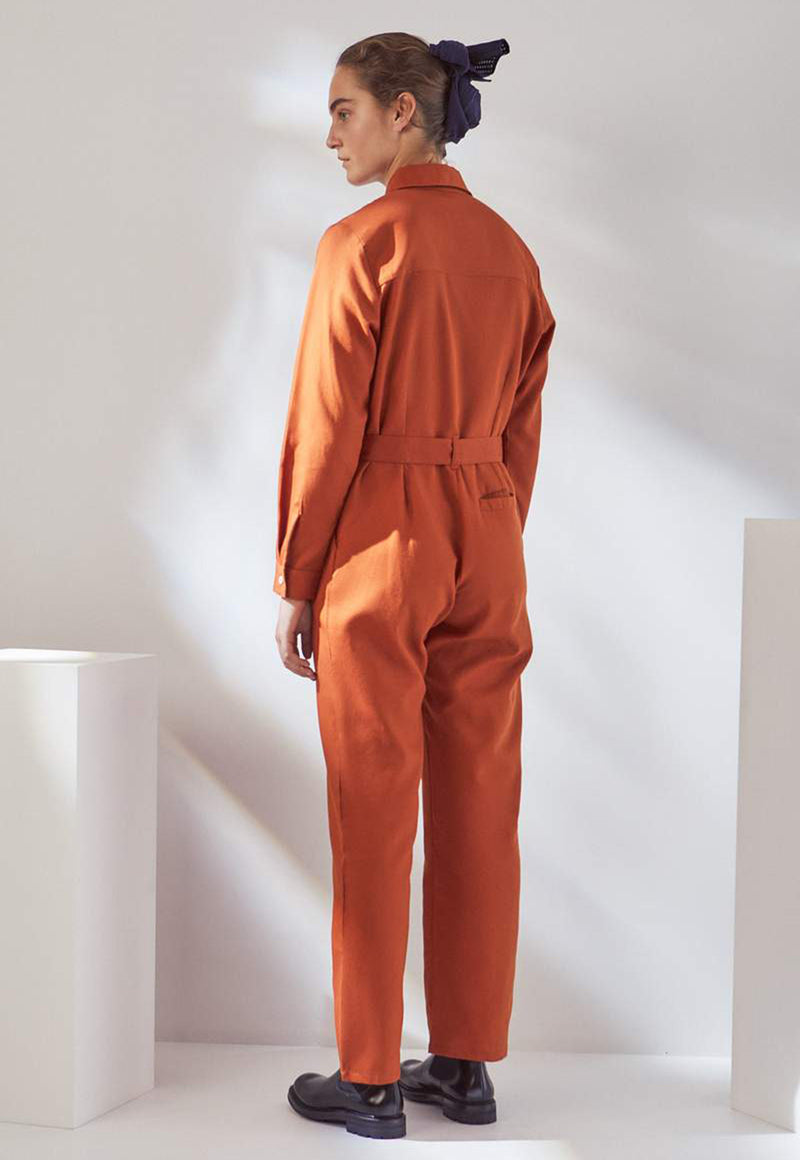 Theo Jumpsuit in Sienna, bottom, KOWTOW, - nois