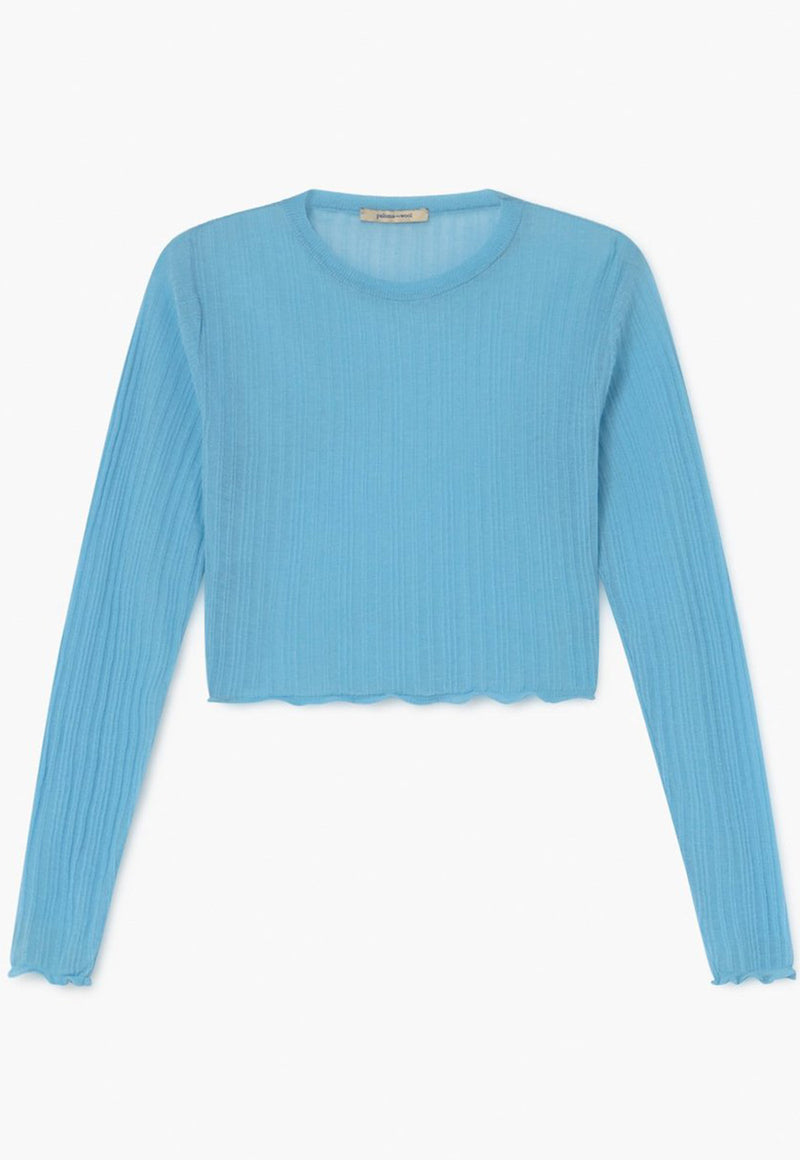 Neng Knit Top Light Blue