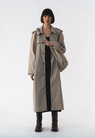 Check Trench Coat