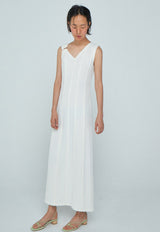 Panel Dress White, dress, WNDERKAMMER, - nois