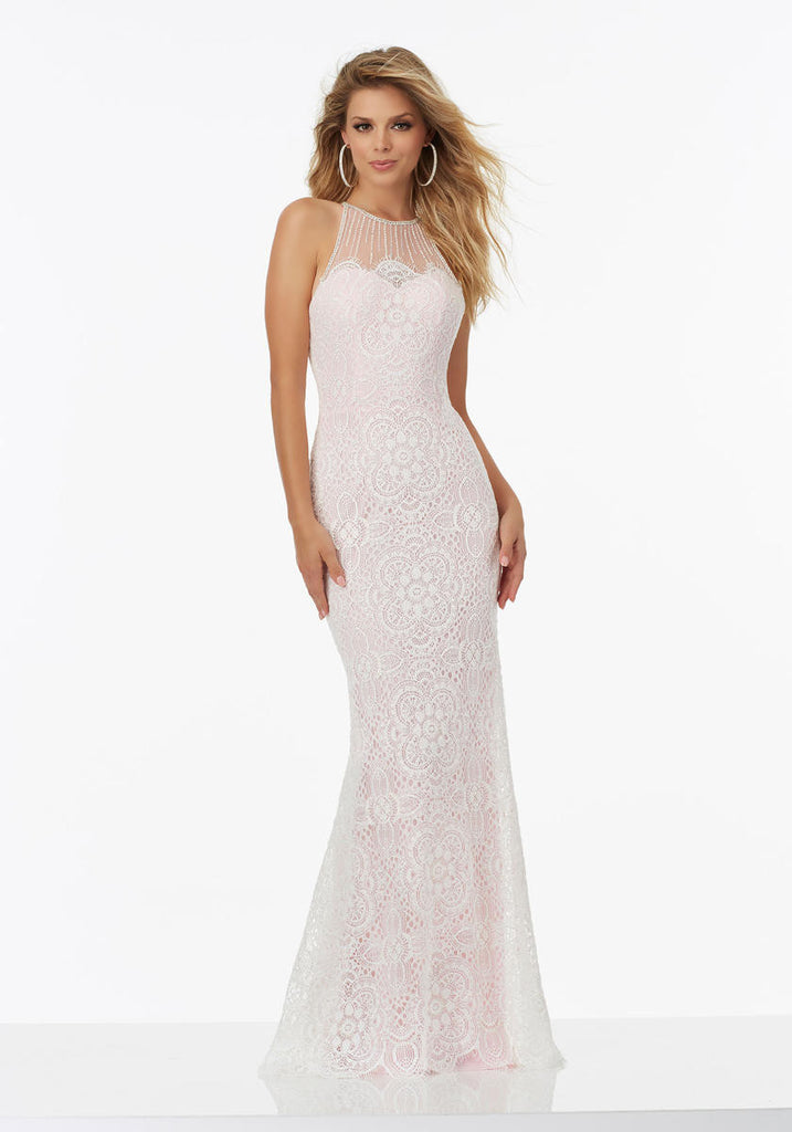 Mori Lee 99034 White/Pink