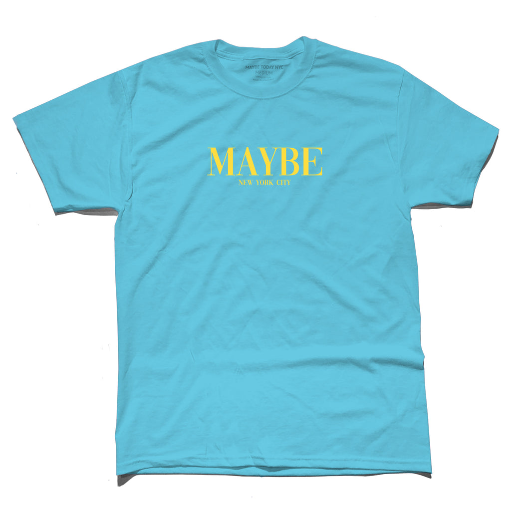 MAYBE Tee in Sapphire