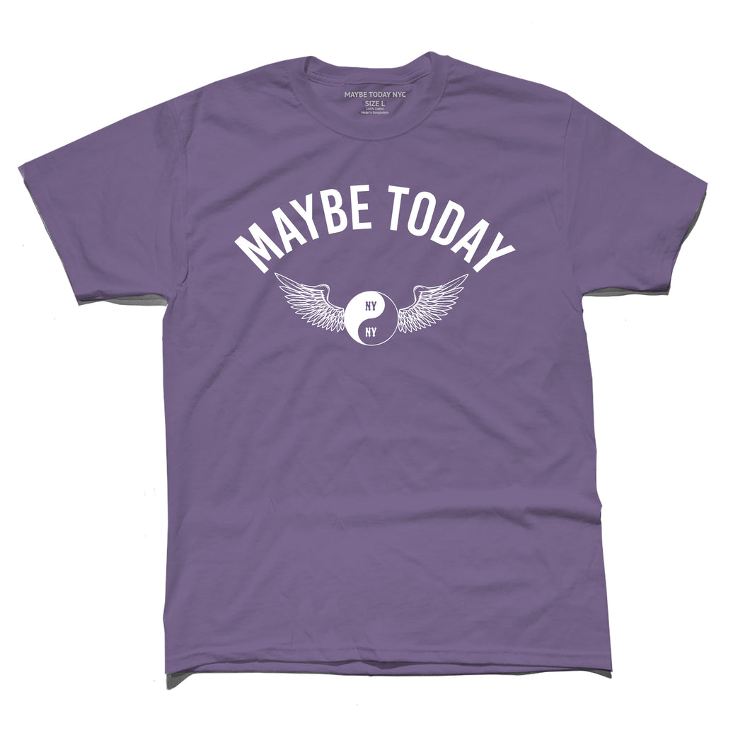 Wings Tee in Grape