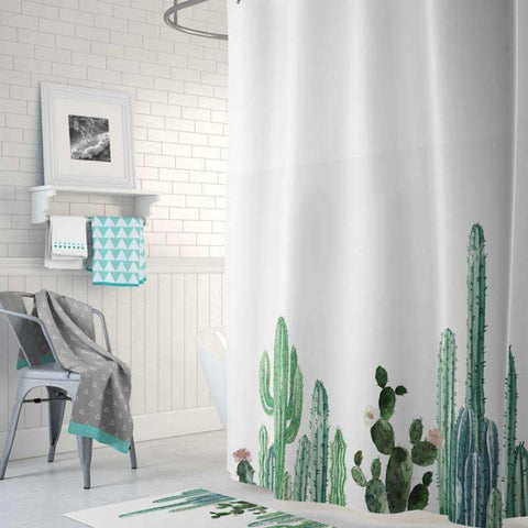 Image of cactus bathroom decor cactus shower curtain