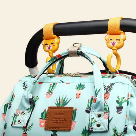 Image of Cactus Print Baby Diaper Bag