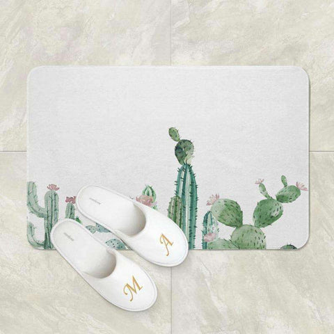 Image of cactus shower mat