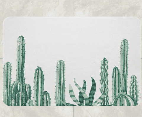 Image of cactus bathroom decor cactus shower mat