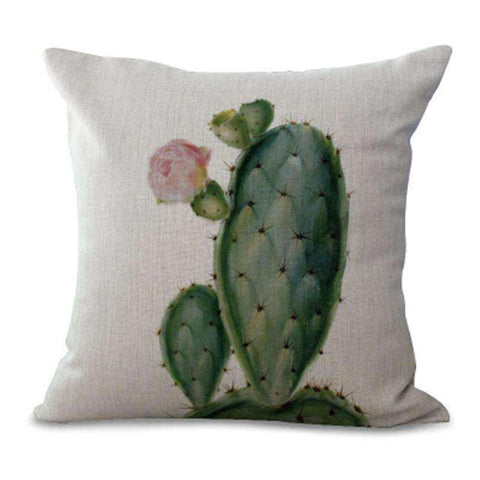 cactus pillow cover