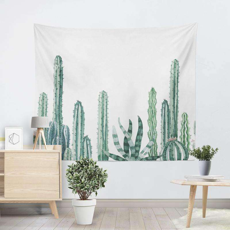 cactus tapestry succulent wall hanging cactus wall decor