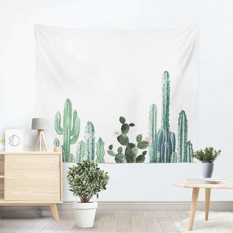 Cactus Decor - Cactus Print Tapestry cactus tapestry succulent wall hanging cactus wall decor
