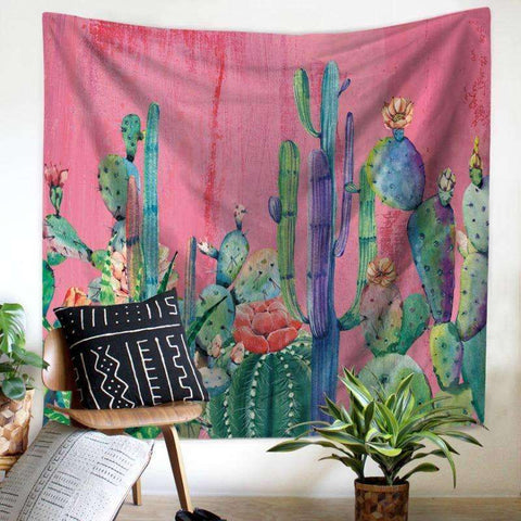 Image of cactus wall decor cactus tapestry succulent tapestry