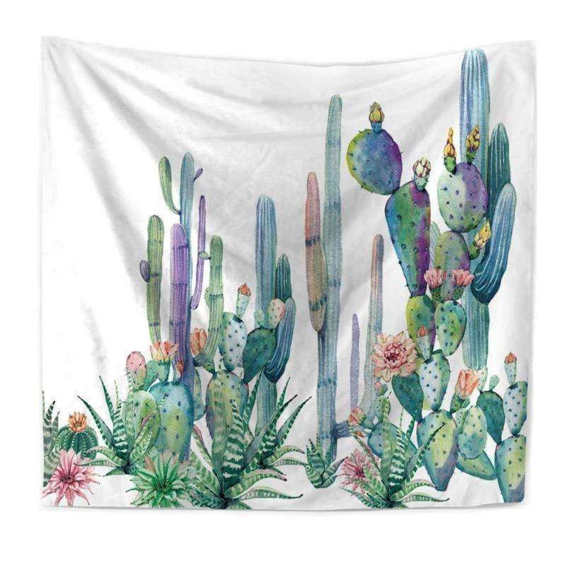 cactus tapestry succulent wall hanging cactus decor