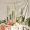 Image of cactus tapestry succulent wall hanging