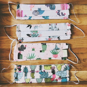 Cactus Print Cloth Face Masks