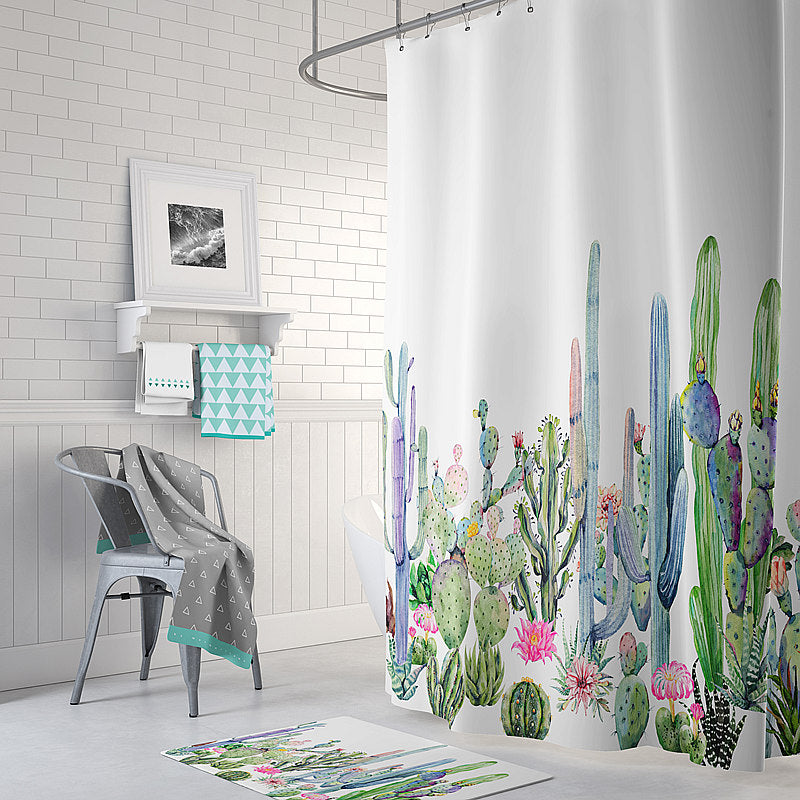 Colorful Cactus Shower Curtain - 3 Designs – Bright Side Jewelry