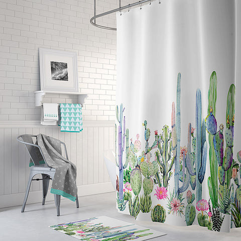 Image of cactus shower curtain cactus bathroom decor