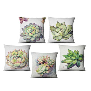 Succulent, Cactus Print Decorative Pillow Covers