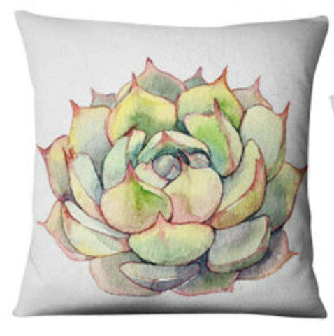 Succulent Style Decorative Pillow Covers cactus home decor