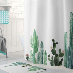 Cactus Design Shower Curtains