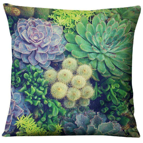 Image of succulent pillow covers cactus room decor