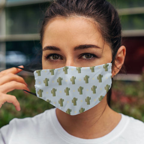 Cactus Print Cloth Face Mask