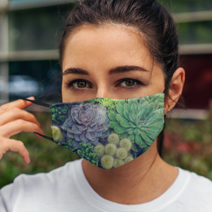 Succulent and Cactus Print Cloth Face Masks