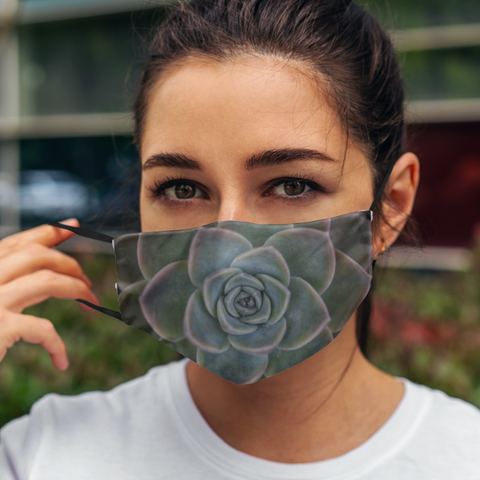Image of Cactus Print Cloth Face Mask