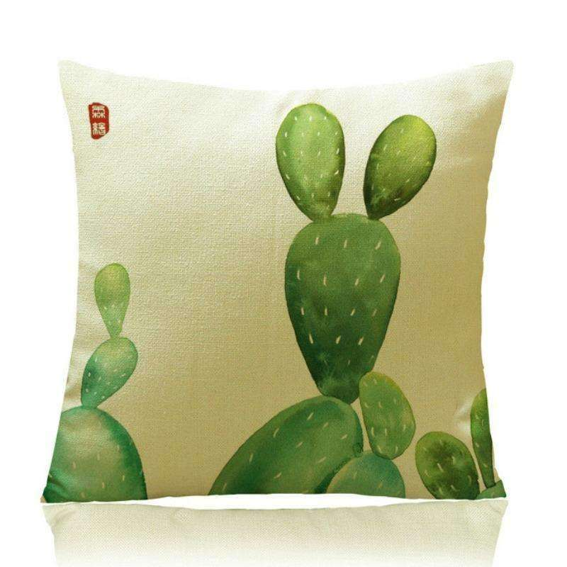 Cactus Decor - Cactus Print Pillow Covers