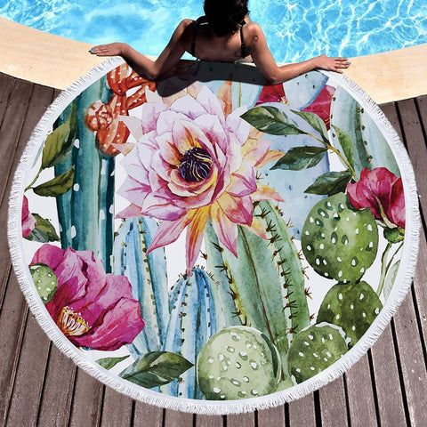 Image of Spring Design Cactus Tapestries and Beach Towel