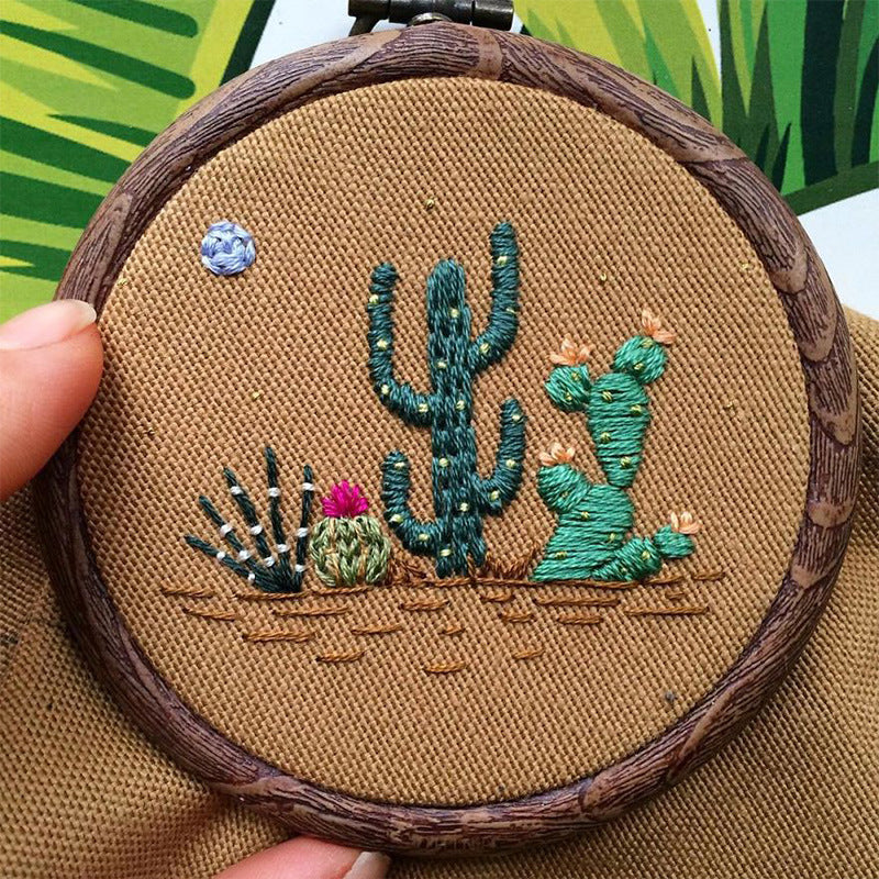 Cactus Decor - DIY Cactus Art - Embroidery Kit