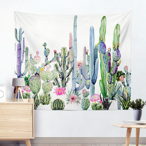 Image of Colorful Cactus Wall Tapestry cactus wall art