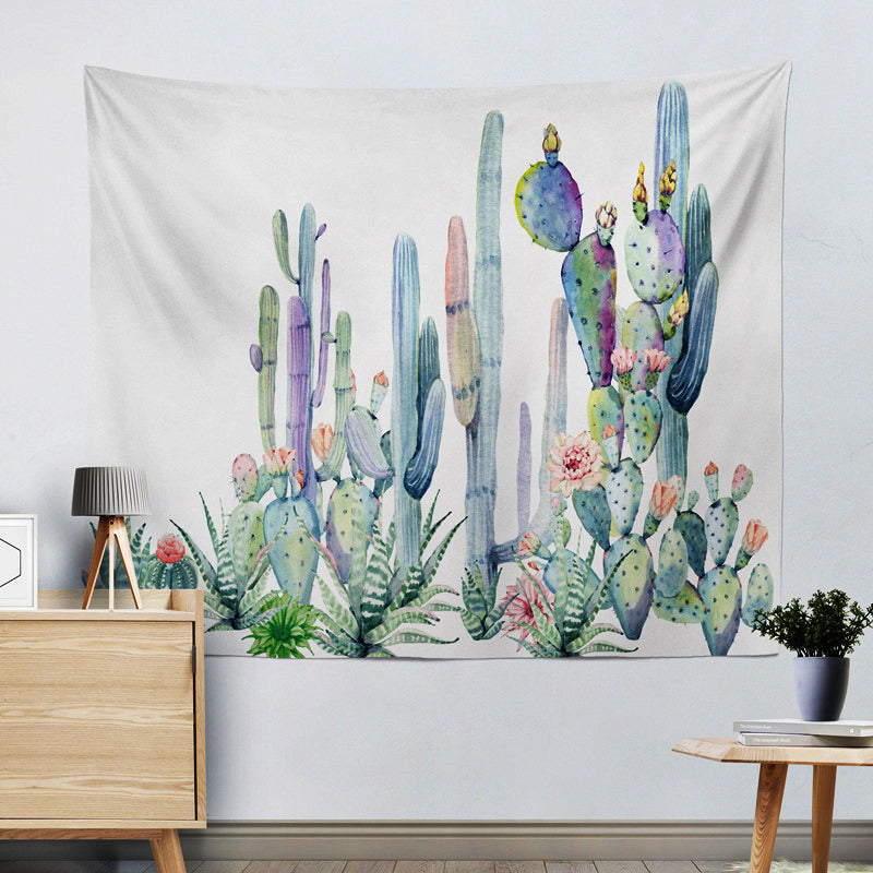 Watercolor Cactus Tapestry cactus wall decor