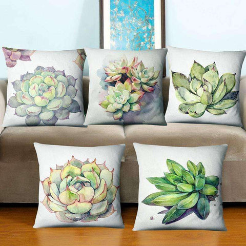 Decorative Succulent Pillow Covers